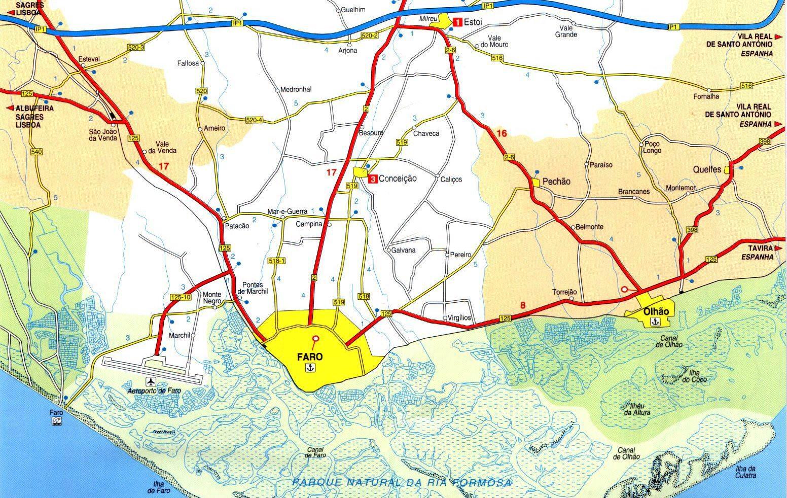 Faro-Airport-Algarve-Map